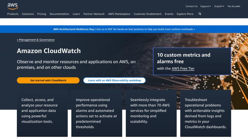 Amazon CloudWatch Landing Page