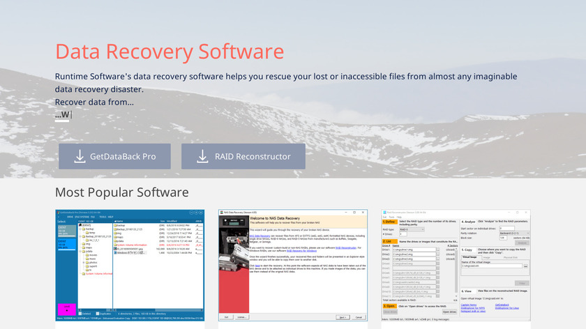DriveImage XML Landing Page