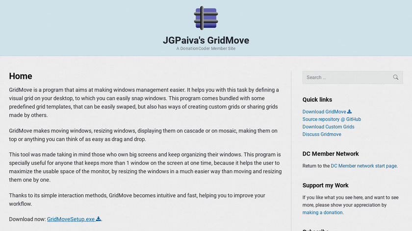 GridMove Landing Page