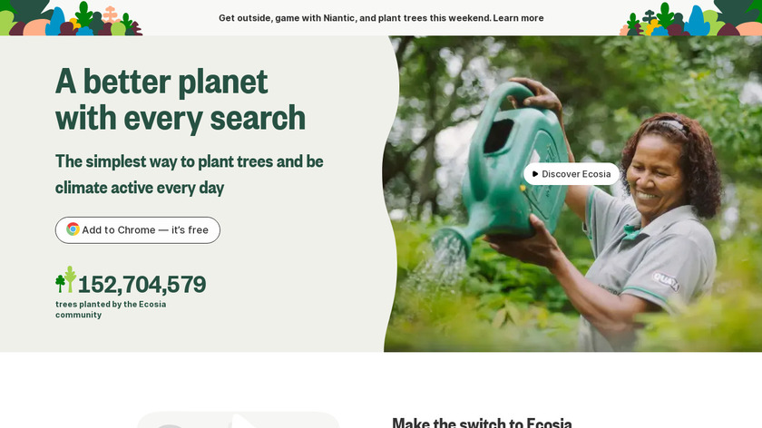 Ecosia Landing Page