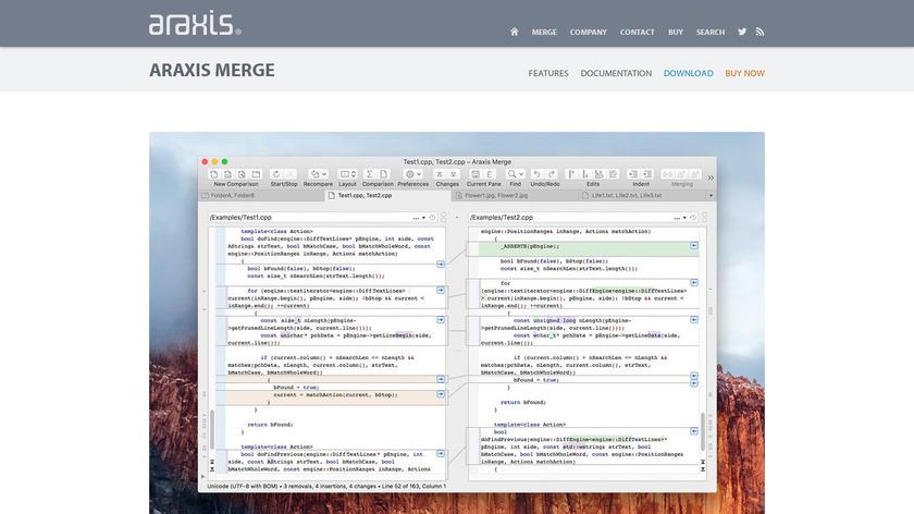 Araxis Merge Landing Page