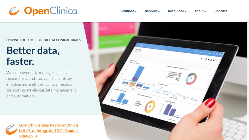 OpenClinica Landing Page