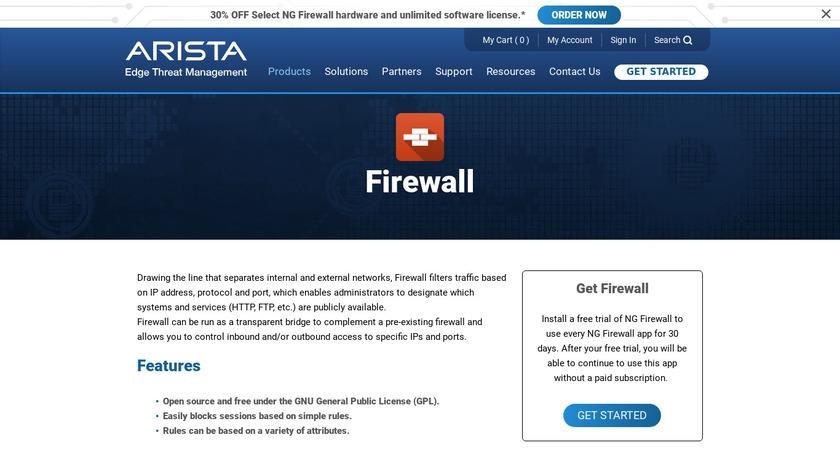 Untangle NG Firewall Landing Page
