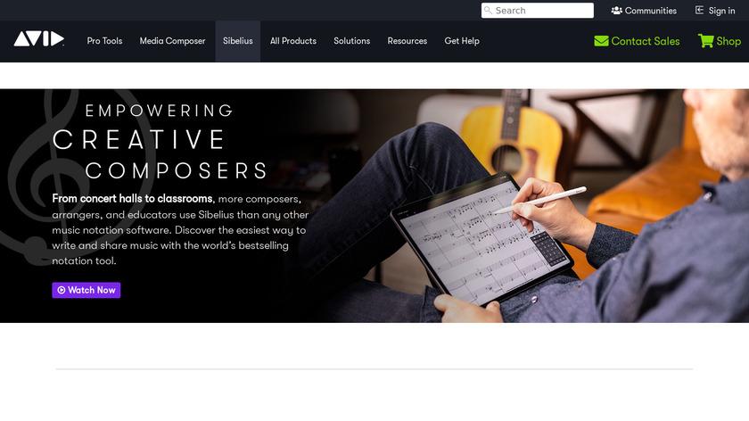 Sibelius Landing Page