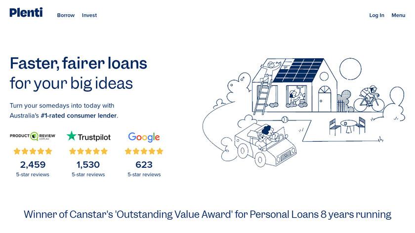 Plenty.com.au Landing Page