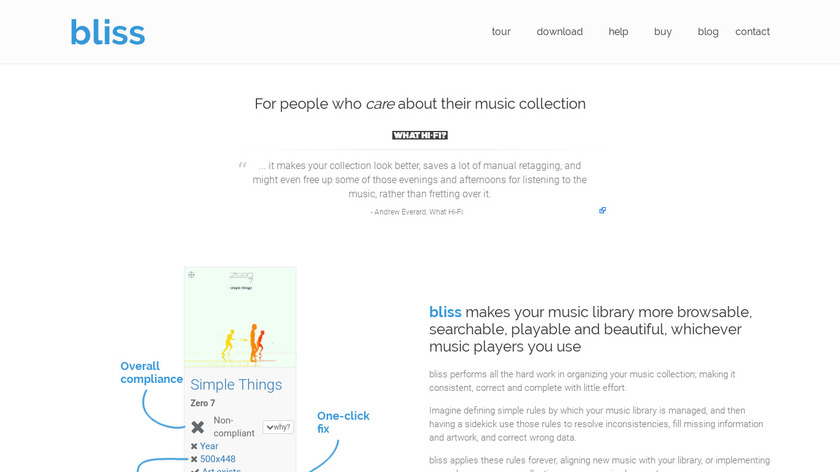 bliss Landing Page