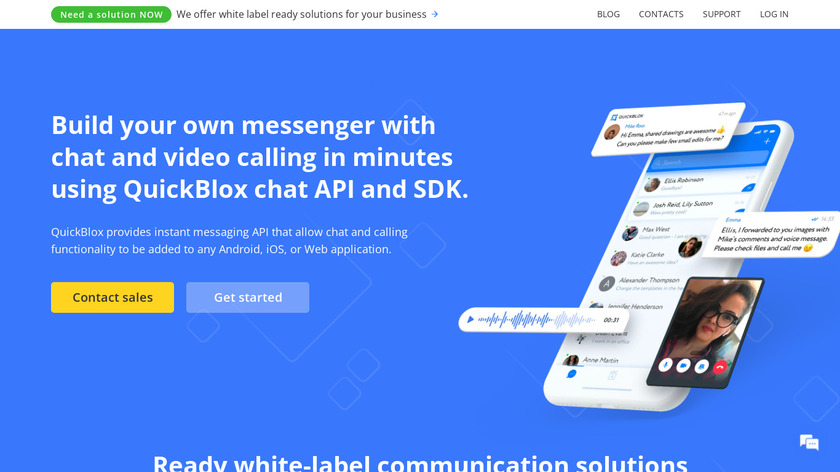 QuickBlox Landing Page
