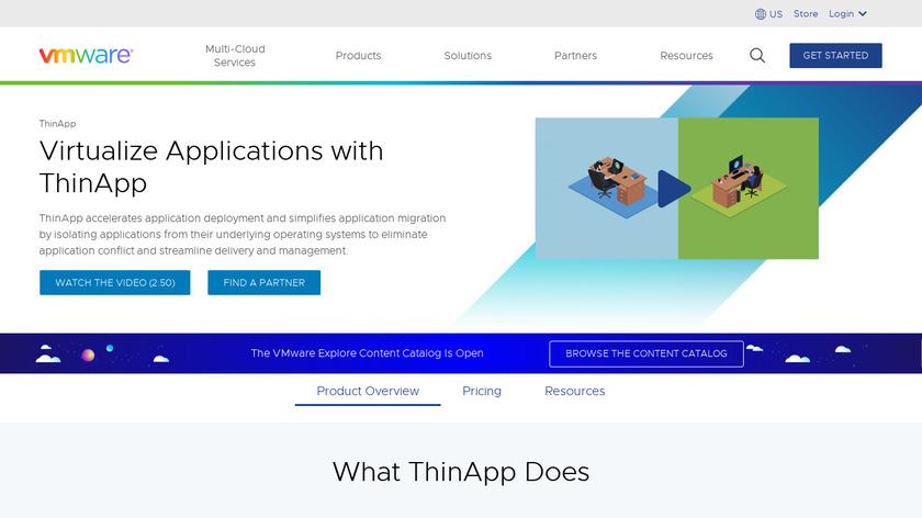 VMware ThinApp Landing Page