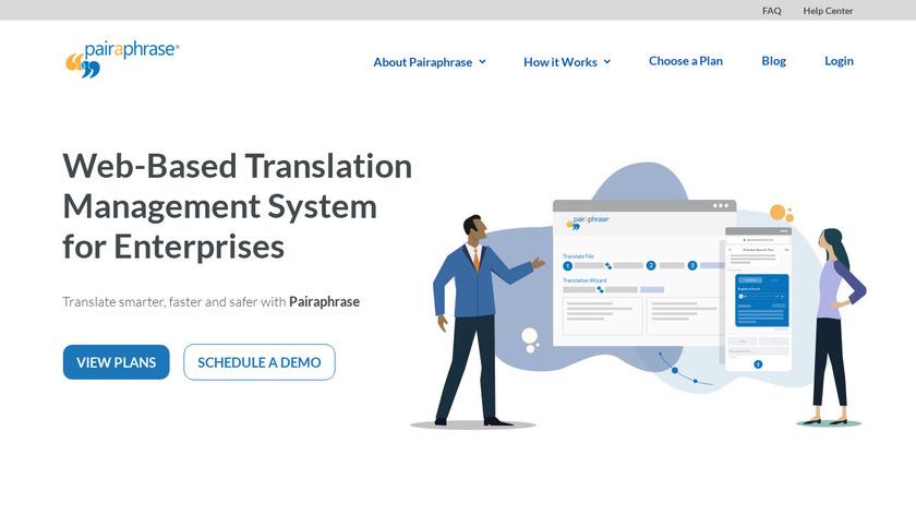 Pairaphrase Landing Page