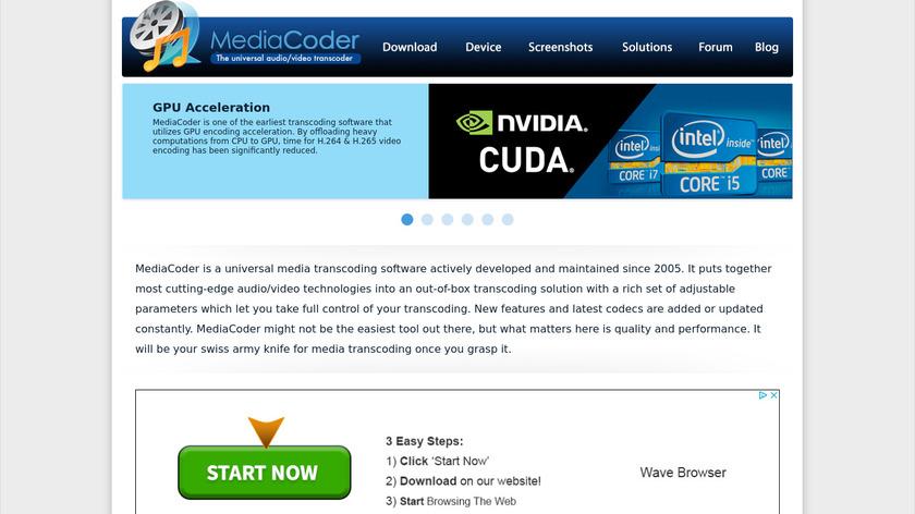 MediaCoder Landing Page