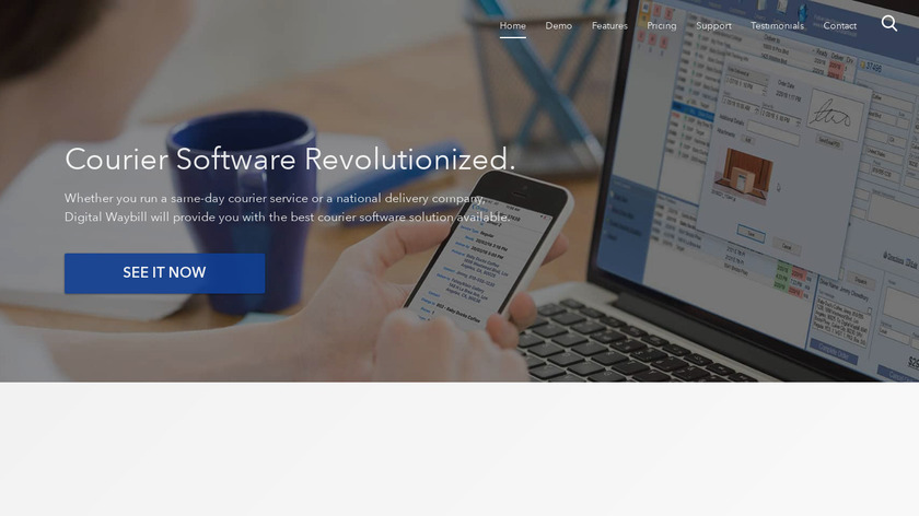 Digital Waybill Landing Page