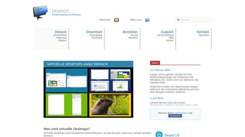 Dexpot Landing Page