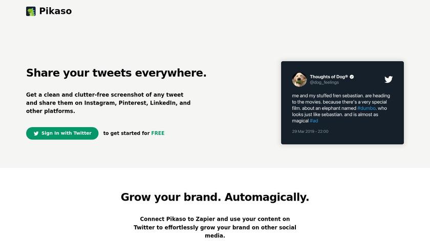Pikaso Landing Page