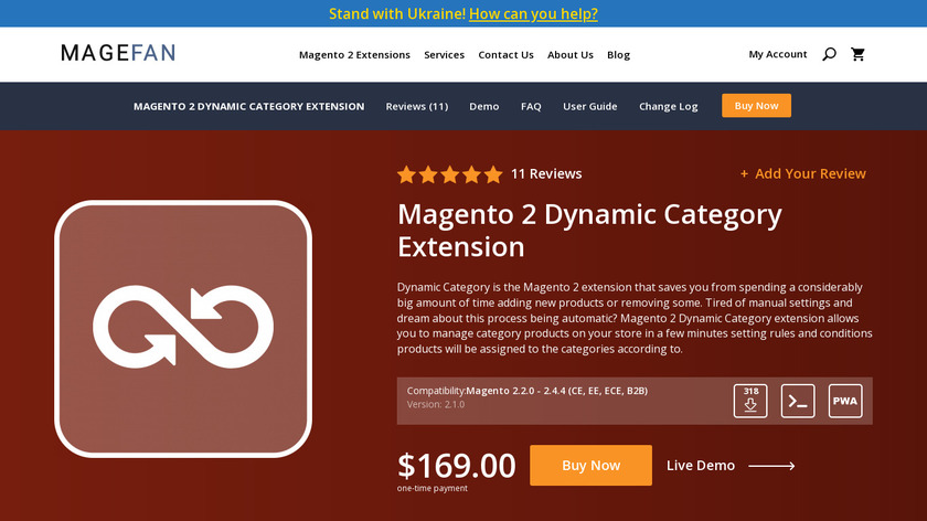 Magento 2 Dynamic Categories Extension Landing Page