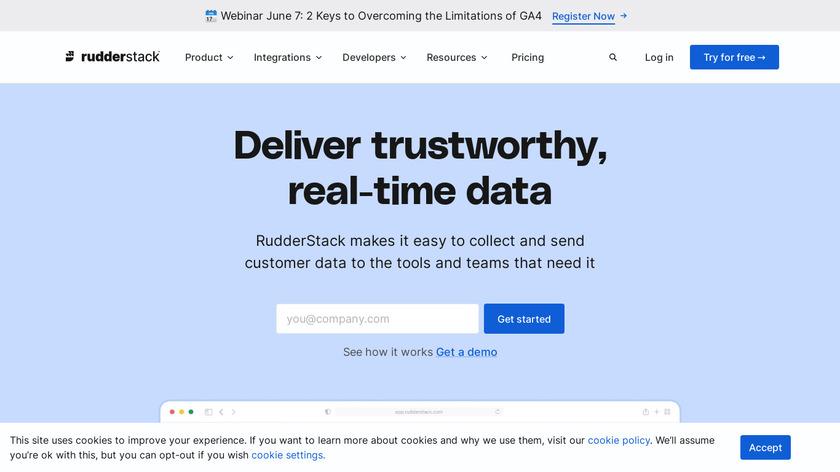 RudderStack Landing Page