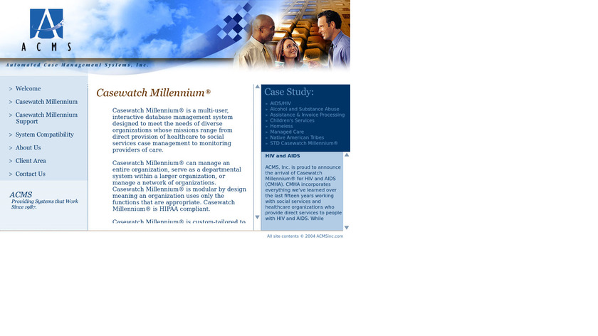 Casewatch Millennium Landing Page