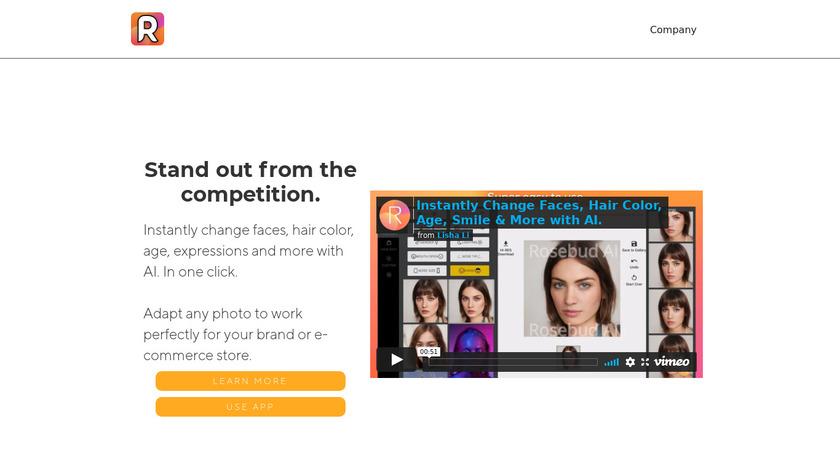 Generative.Photos Landing Page