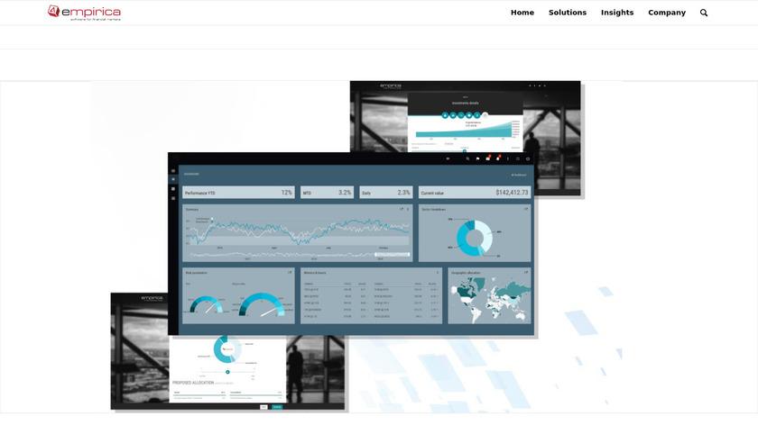 Empirica RoboAdvisor Landing Page