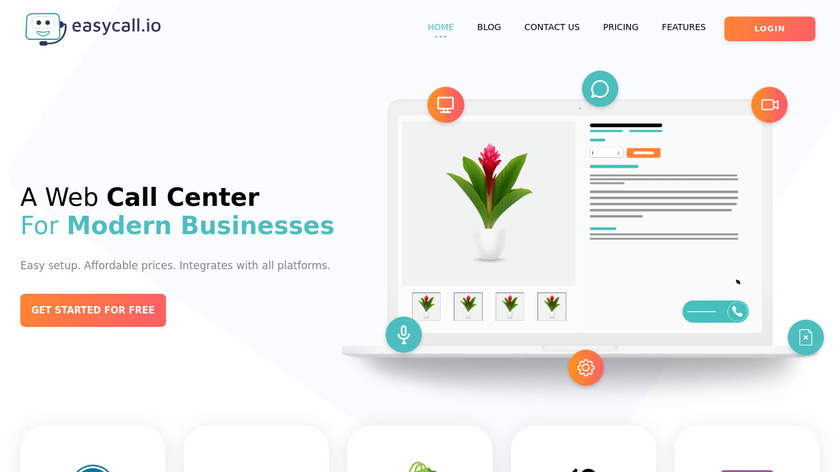 EasyCall Phone Call Center Landing Page