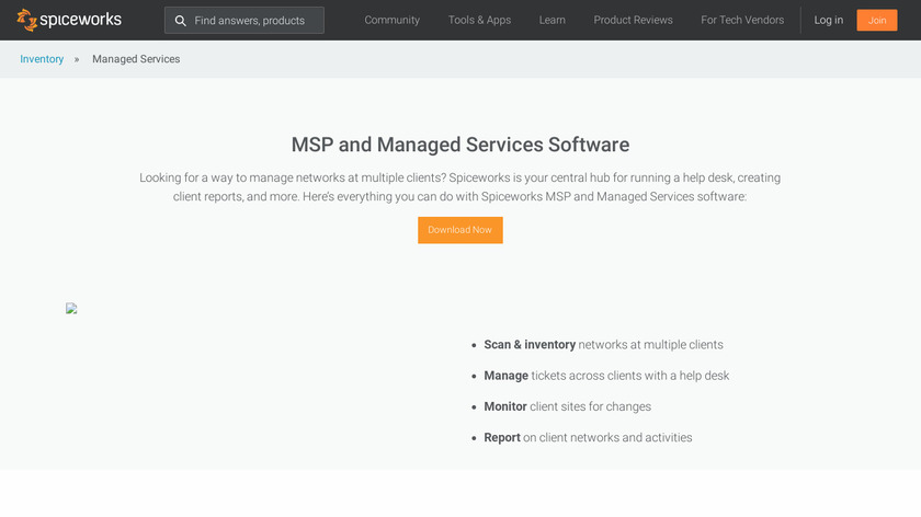 Spiceworks MSP Landing Page
