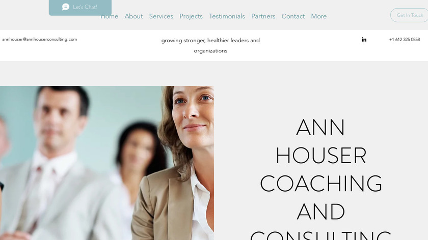 Ann Houser Consulting Landing Page