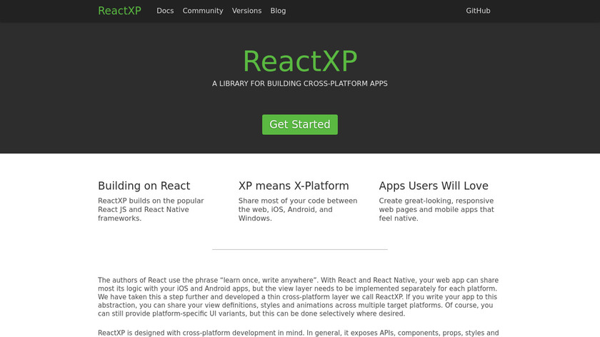 ReactXP Landing Page
