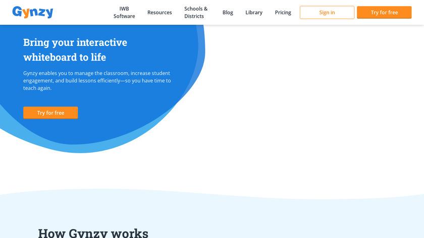 Gynzy Landing Page