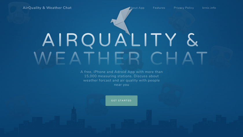 AirQuality & Weather Chat Landing Page