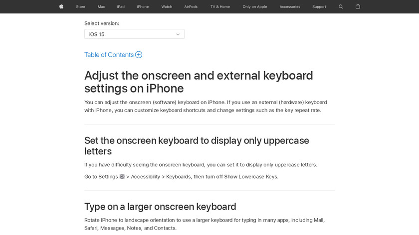 Keyboard for Phone X Landing Page