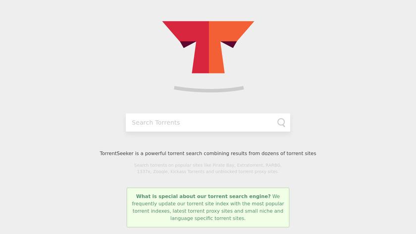 Torrentseeker Search Landing Page