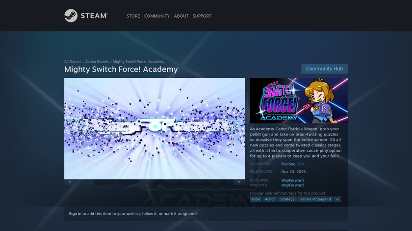 Mighty Switch Force! Academy Landing Page