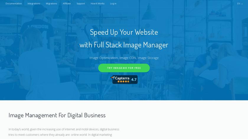 image4io Landing Page