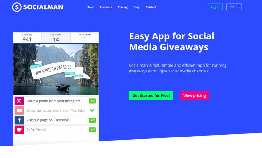 Socialman Landing Page