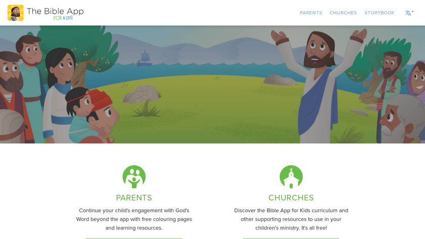 Bible App for Kids Landing Page
