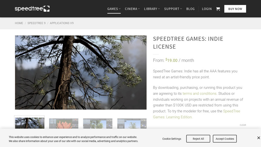 SpeedTree for Games Landing Page