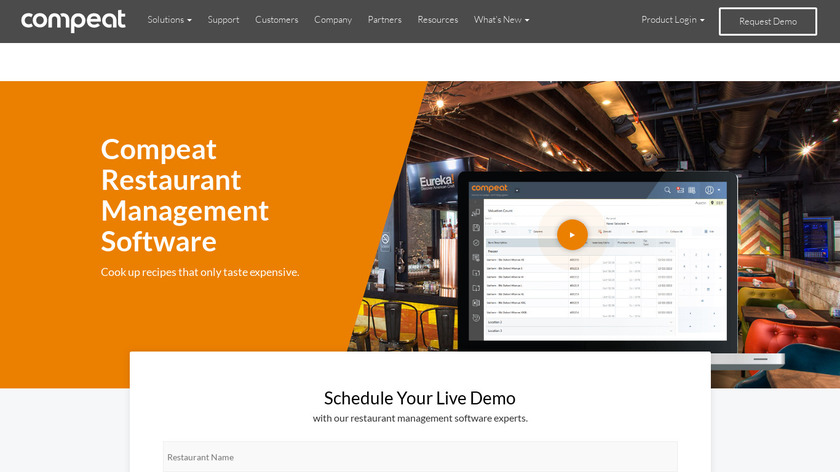 Compeat Software Landing Page