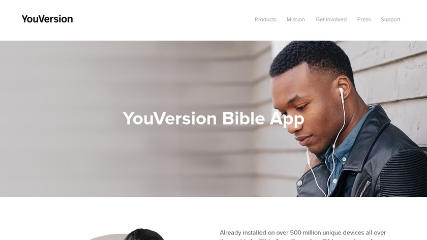 YouVersion Bible App Landing Page