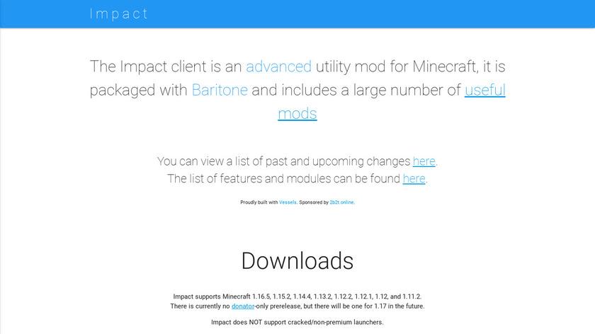 Impact Landing Page