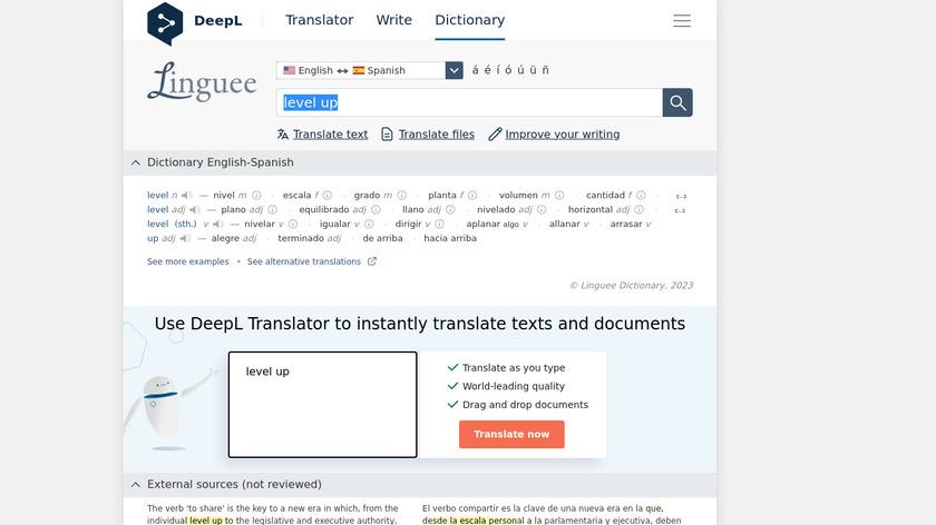 Level Up Translation Landing Page