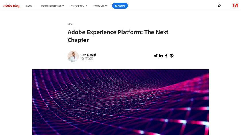 Adobe Experience Platform Landing Page