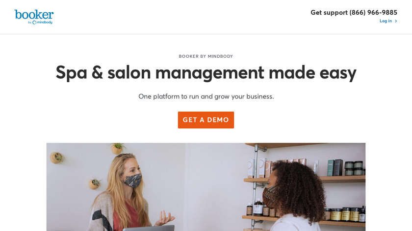 Booker Software Landing Page