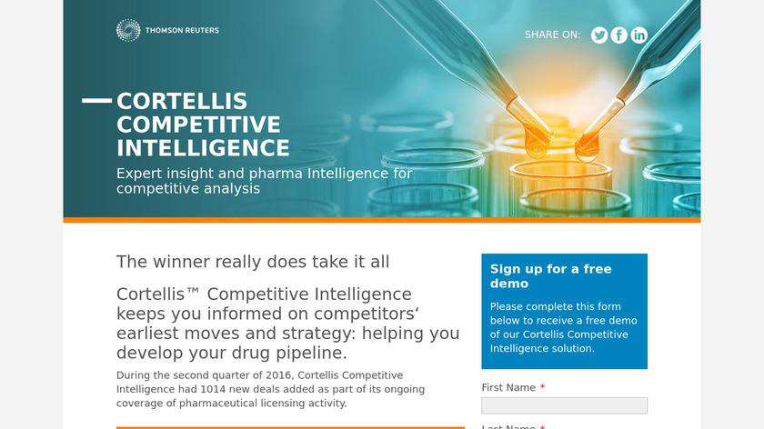 Cortellis Landing Page