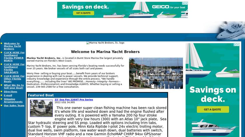 yachtworld.com marina-yacht Landing Page