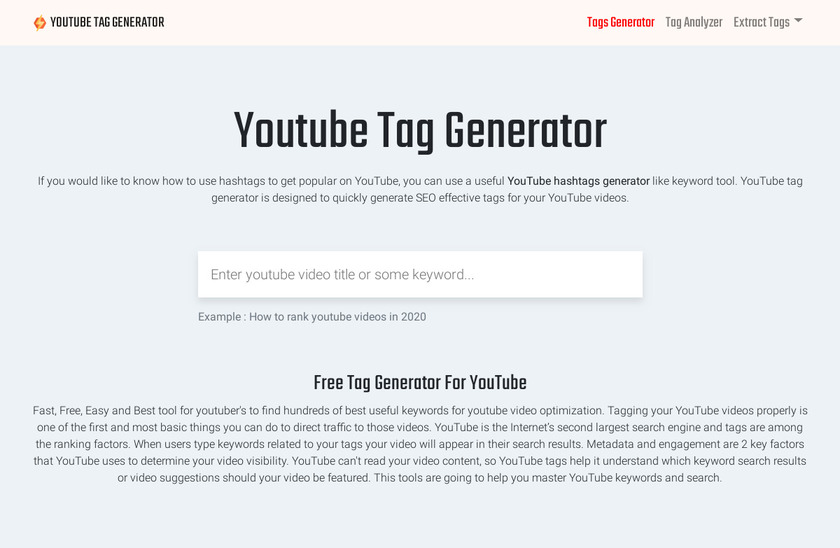 Youtube Tag Generator Pricing