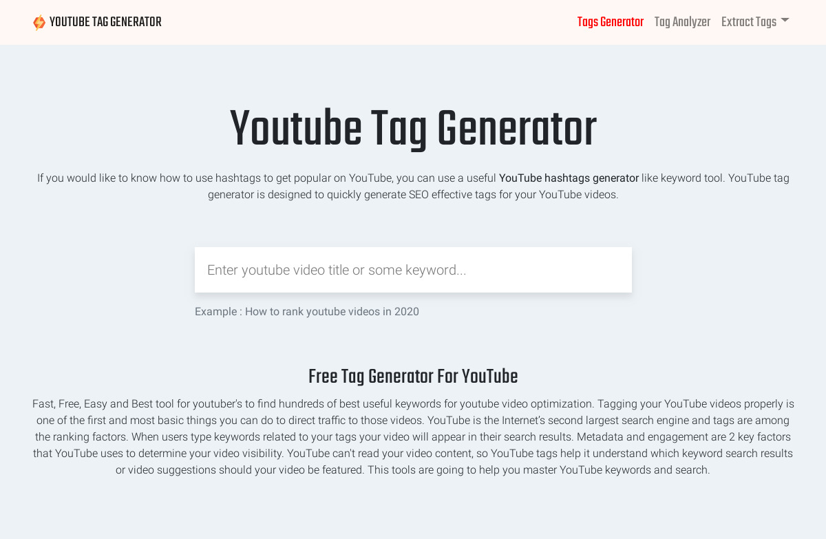 Youtube Tag Generator Pricing as of 2020-03-03