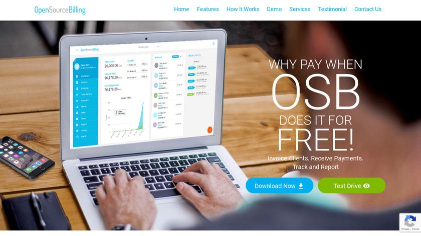 OpenSourceBilling Landing Page