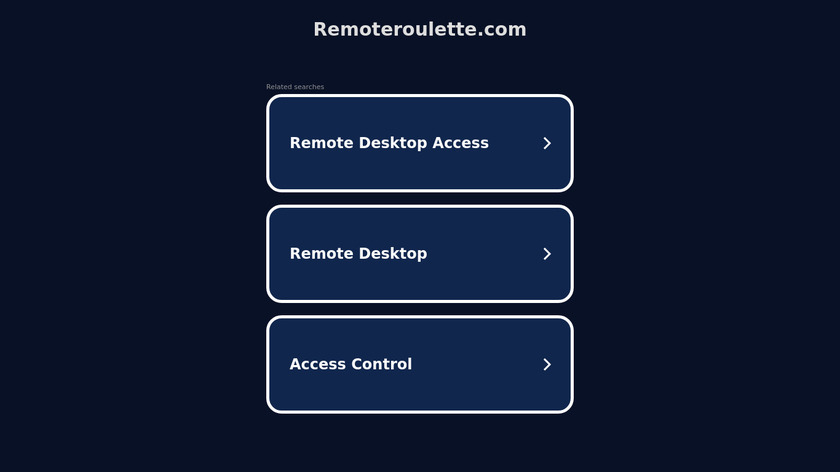 Remote Roulette Landing Page