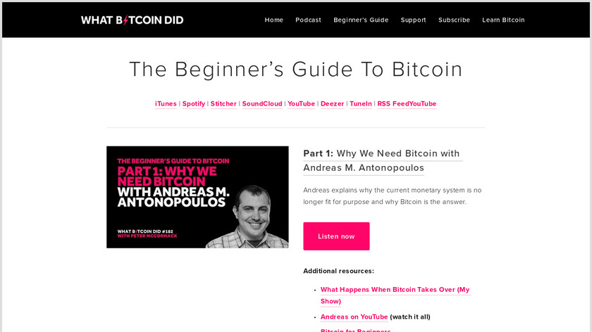 The Beginner's Guide to Bitcoin Landing Page