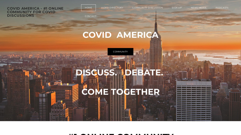 The COVID Pages Landing Page
