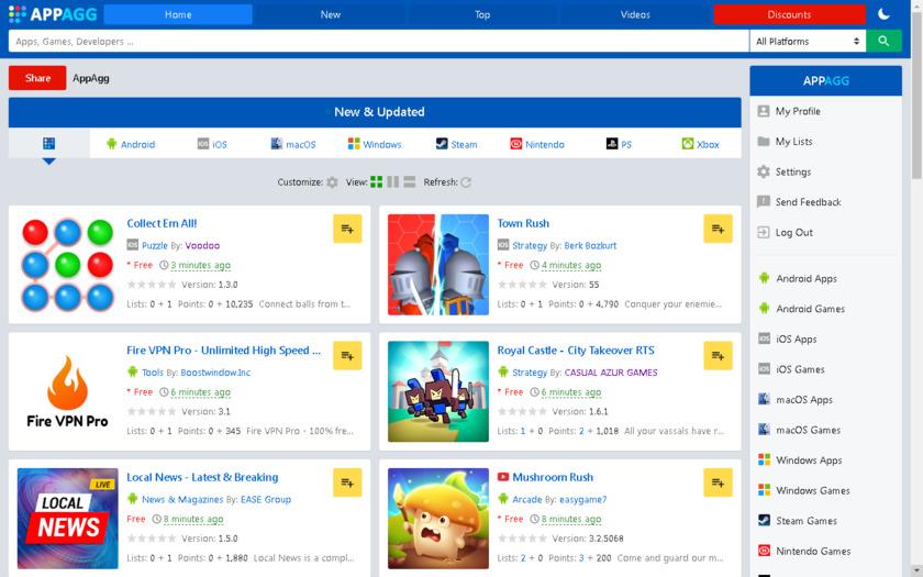 AppAgg Landing Page